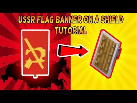 Minecraft Banner Tutorial - How to put an USSR Flag Banner