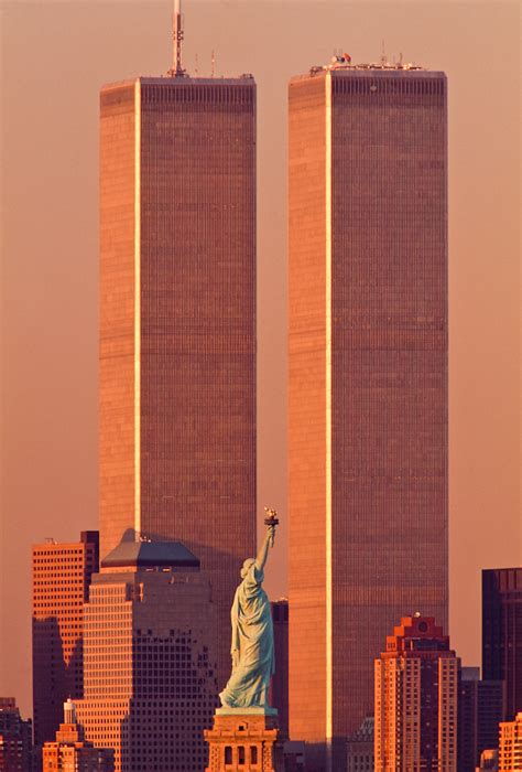 Statue of Liberty Between Twin Towers, World Trade Center