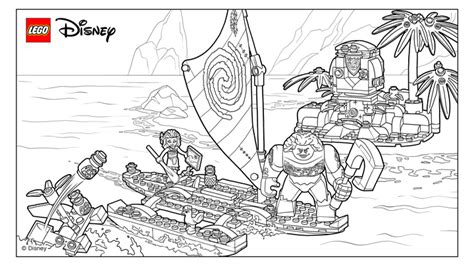 Summertime - Coloring Pages - LEGO® Disney™ - LEGO