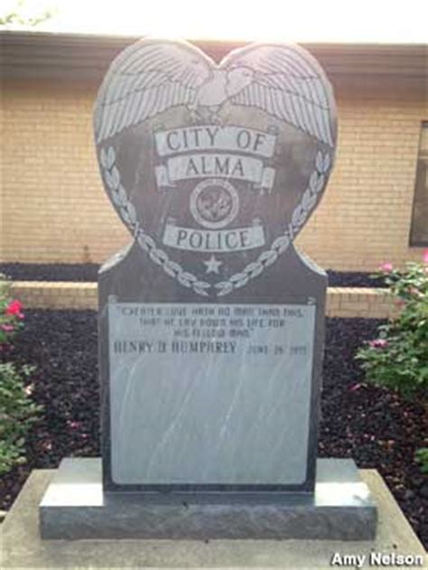 Memorial to Victim of Bonnie and Clyde, Alma, Arkansas