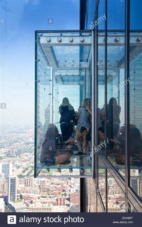 The Willis tower (formerly Sears tower) glass balconies
