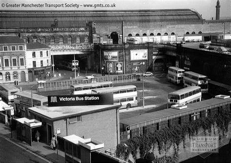 Victoria bus station, Salford, mid 1970s | Salford's bus