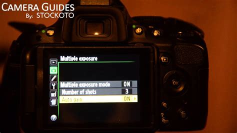 How to set Multiple Exposure on a Nikon D5100 , D5200